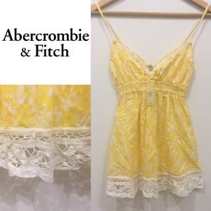 ANDRCROMBIE & FITCH:PRETTY YELLOW FLORAL CAMI.